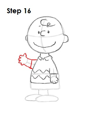 Draw Charlie Brown 16