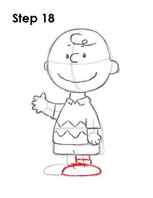 Draw Charlie Brown 18