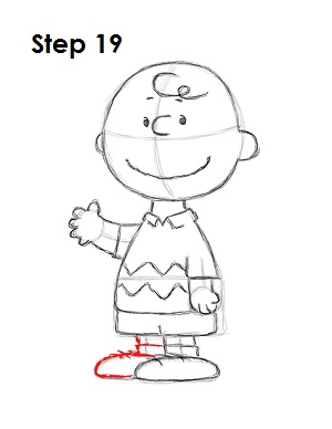 Draw Charlie Brown 19