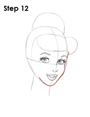How to Draw Cinderella Step 12