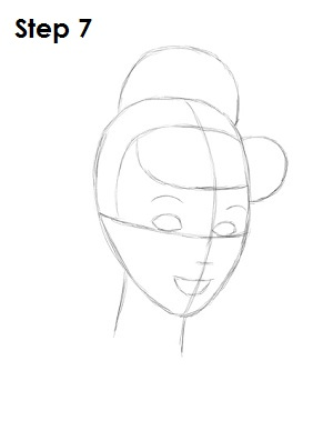 How to Draw Cinderella Step 7