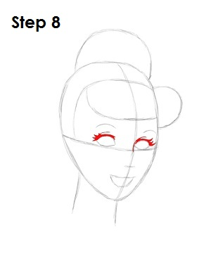 How to Draw Cinderella Step 8