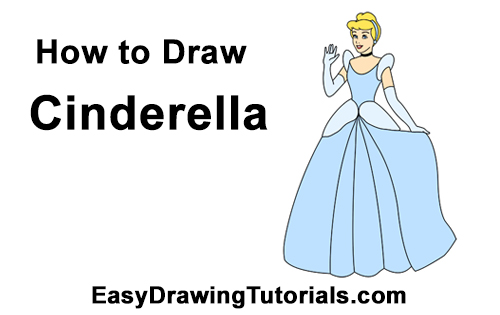 How to Draw Cinderella Dress