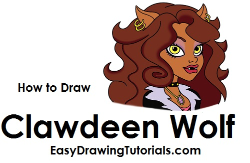 How to Draw Clawdeen Wolf