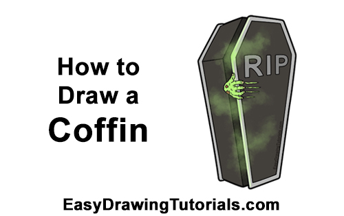 How to Draw a Coffin Zombie Hand Halloween