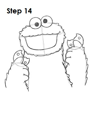 How to Draw Cookie Monster Step 14