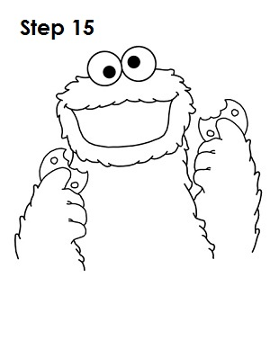 How to Draw Cookie Monster Step 15