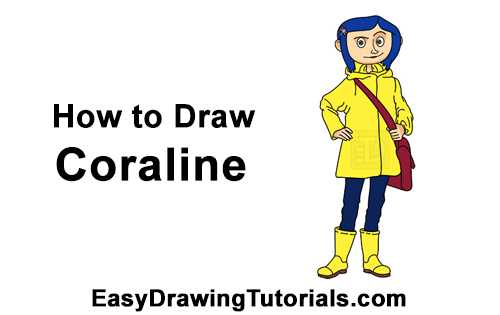 How to Draw Coraline Jones Full Body