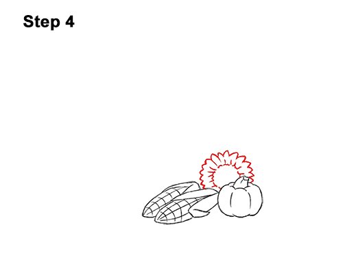 How to Draw Cartoon Cornucopia Thanksgiving 4
