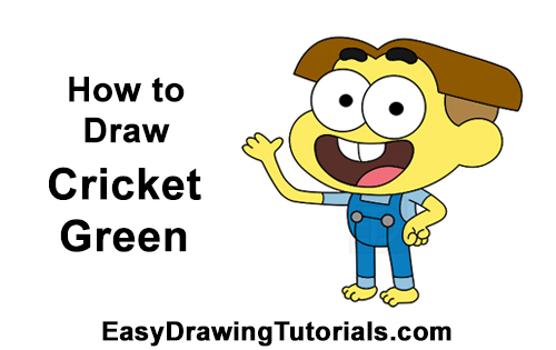 How to Draw Cricket Green Big City Greens