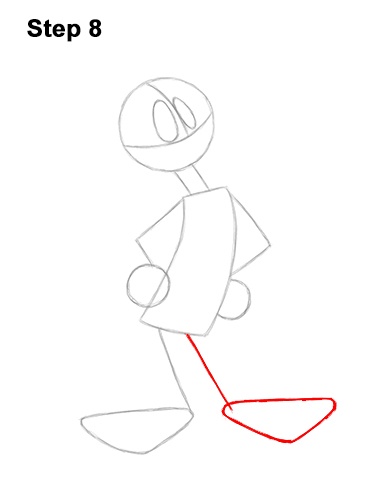 How to Draw Daffy Duck Full Body Looney Tunes 8