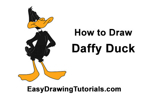 How to Draw Daffy Duck Full Body Looney Tunes