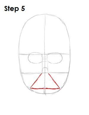 Draw Darth Vader Step 5