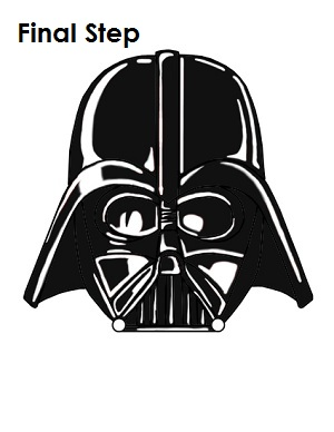 Draw Darth Vader Completed Drawing