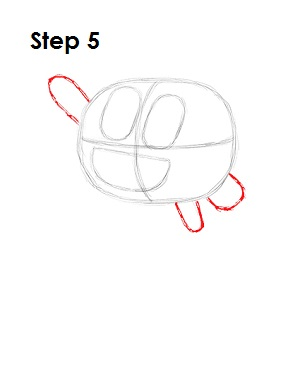 How to Draw Darwin Watterson Step 5