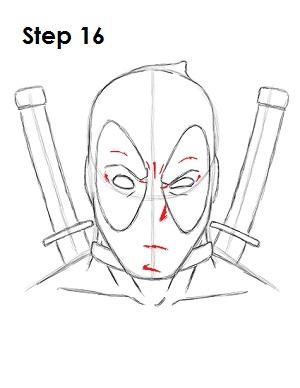 Draw Deadpool Marvel 16
