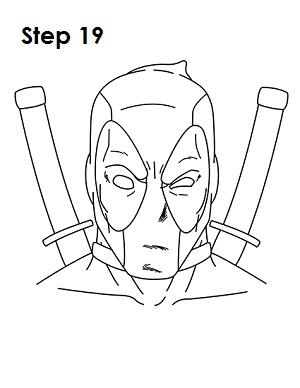 Draw Deadpool Marvel 19
