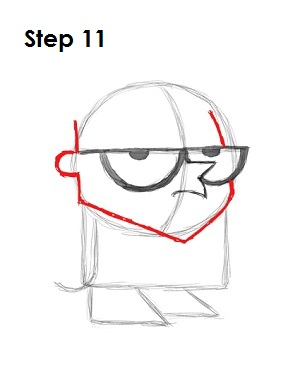 How to Draw Dexter Step 11