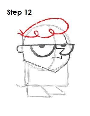 How to Draw Dexter Step 12