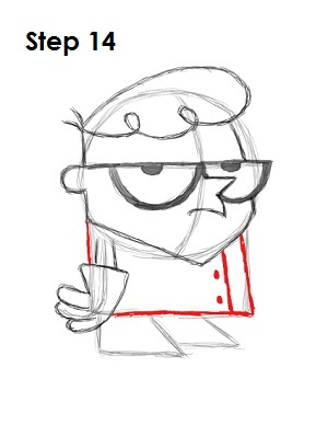 How to Draw Dexter Step 14