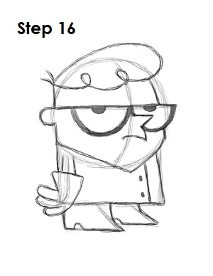 How to Draw Dexter Step 16