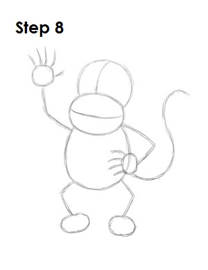 How to Draw Diddy Kong Step 8