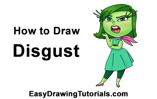 How to Draw Disgust from Inside Out