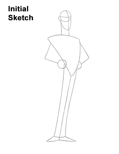 How to Draw Count Dracula Hotel Transylvania Guides Lines