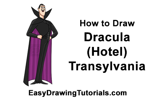 How to Draw Count Dracula Hotel Transylvania