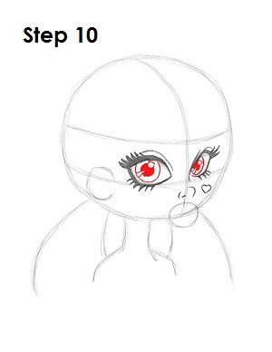 How to Draw Draculaura Step 10