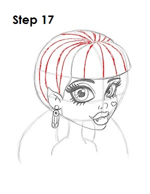 How to Draw Draculaura Step 17