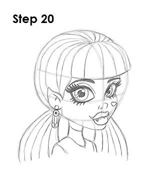 How to Draw Draculaura Step 20