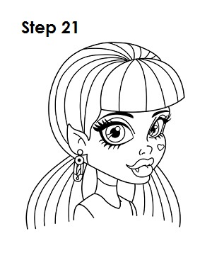 How to Draw Draculaura Step 21
