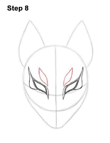 How to Draw Fortnite Max Drift Skin Mask 8