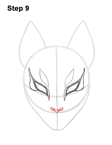 How to Draw Fortnite Max Drift Skin Mask 9