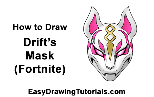 How to Draw Fortnite Max Drift Skin Mask