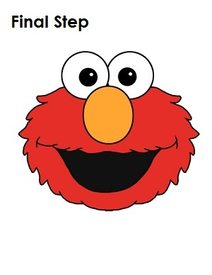 Draw Elmo Completed Drawing