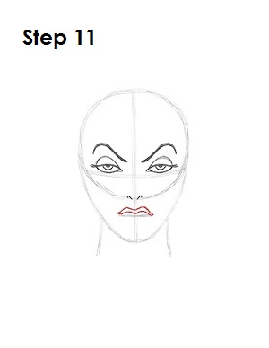 How to Draw Evil Queen Step 11