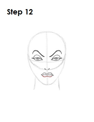 How to Draw Evil Queen Step 12