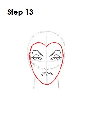 How to Draw Evil Queen Step 13