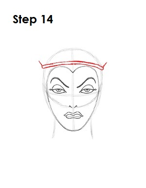How to Draw Evil Queen Step 14