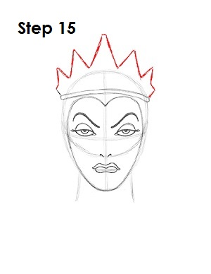 How to Draw Evil Queen Step 15