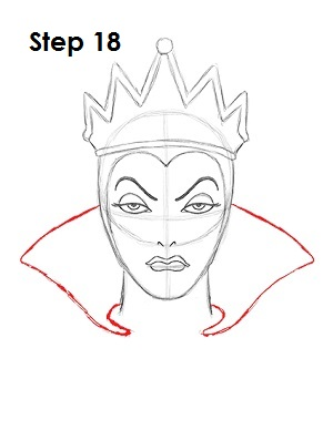 How to Draw Evil Queen Step 18