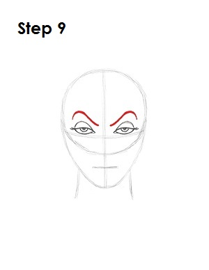 How to Draw Evil Queen Step 9