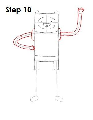How to Draw Finn Step 10