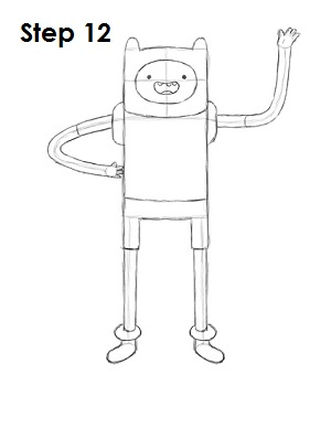 How to Draw Finn Step 12