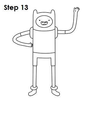 How to Draw Finn Step 13