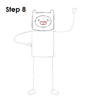 How to Draw Finn Step 8