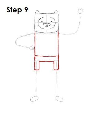 How to Draw Finn Step 9