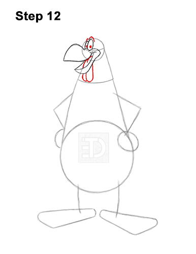How to Draw Foghorn Leghorn Looney Tunes Merrie Melodies 12